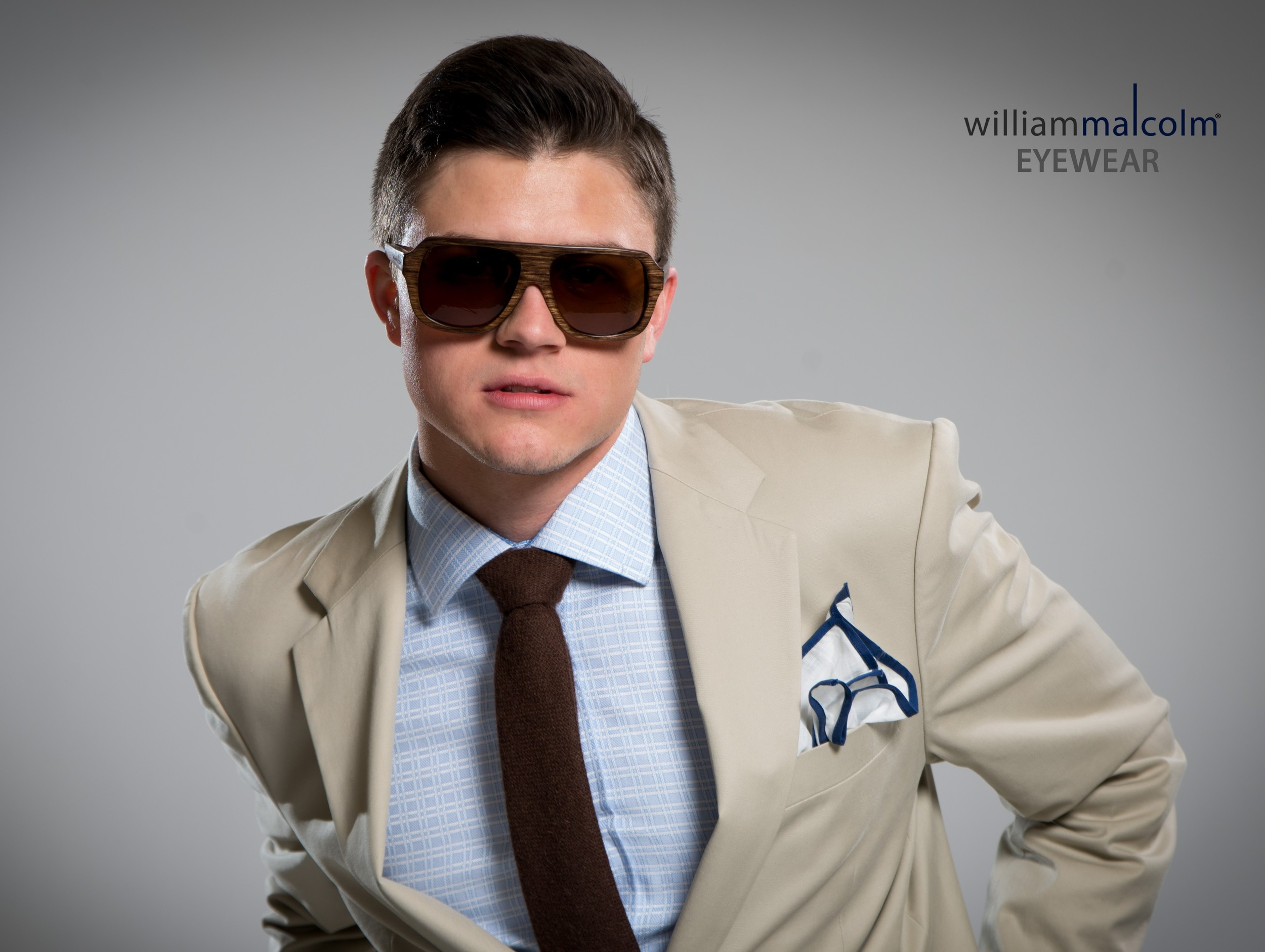 """You Can't See Me....William Malcolm Luxe Collection Wood Sunglasses""...www.WilliamMalcolmCollection.com. Detroit Bespoke Suits. Custom Suits Detroit"