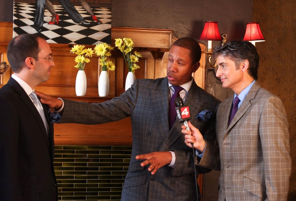 """William Malcolm Luxe Collection On Television Giving Style Tips.""  Detroit Bespoke Suits. Custom Suits Detroit"