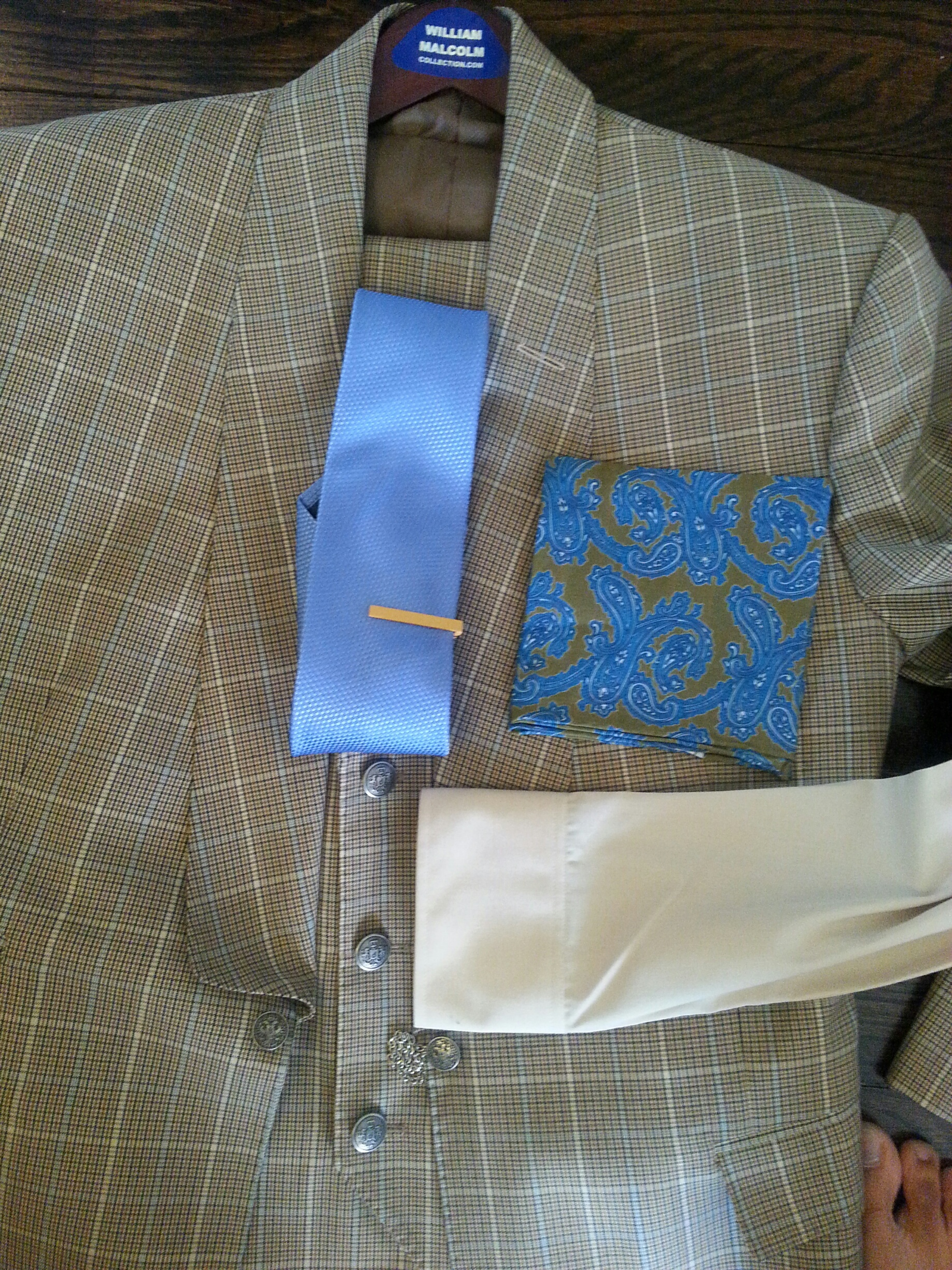 Bespoke Suit With Silver Chain Closure...William Malcolm Luxe Collection  Bespoke Suits