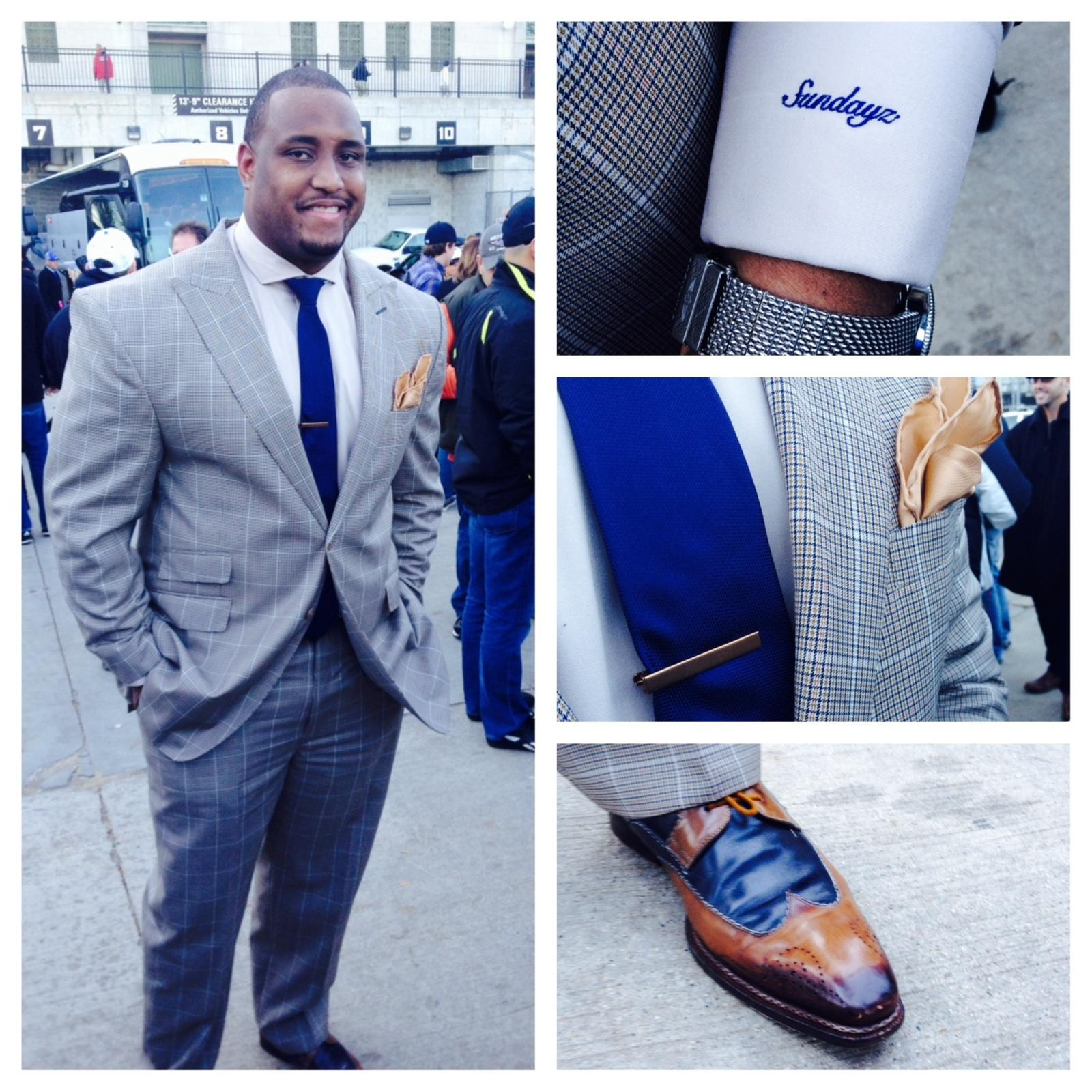 """NFL Right Guard Rob Sims""   With Pride""...William Malcolm Luxe Collection  Bespoke Suits.  Detroit Bespoke Suits. Custom Suits Detroit"