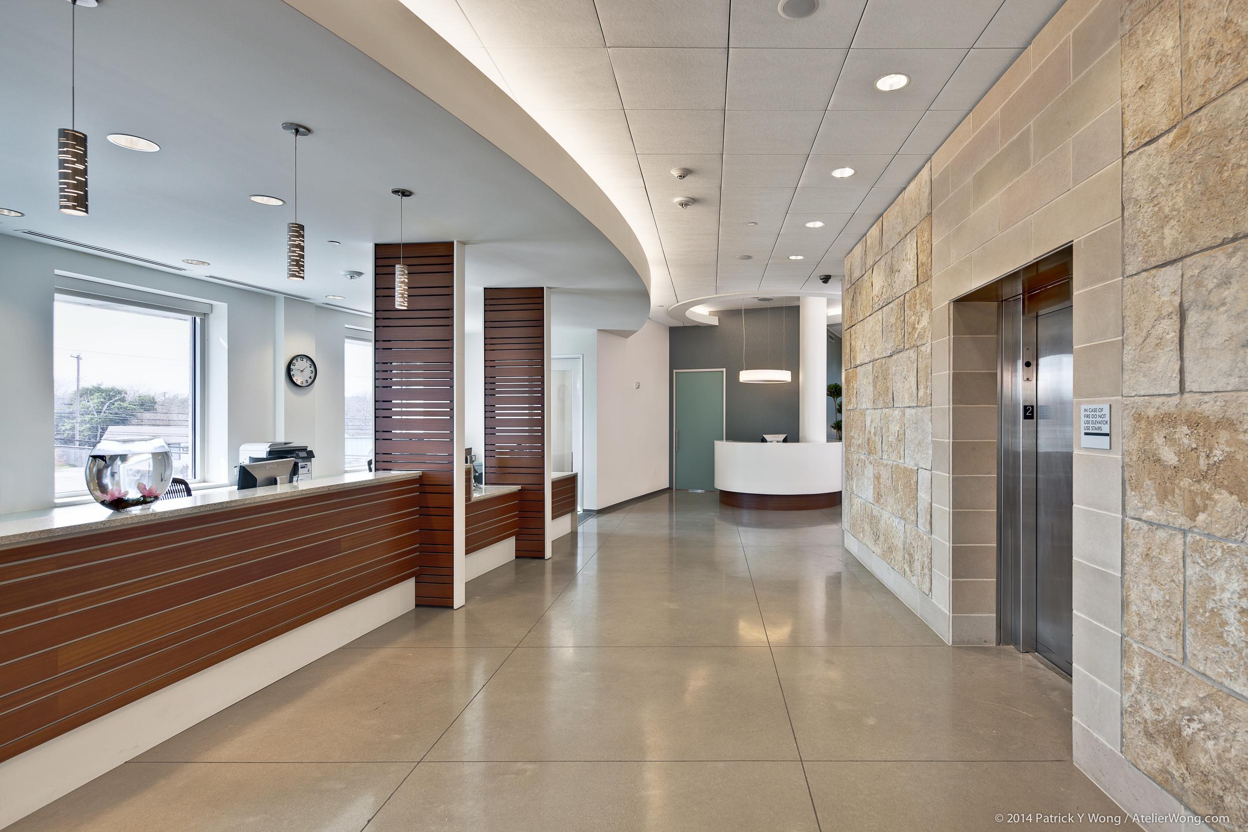 8_Eye Physicians of Austin Interior_Elevator Lobby_Sixthriver Architects.jpg