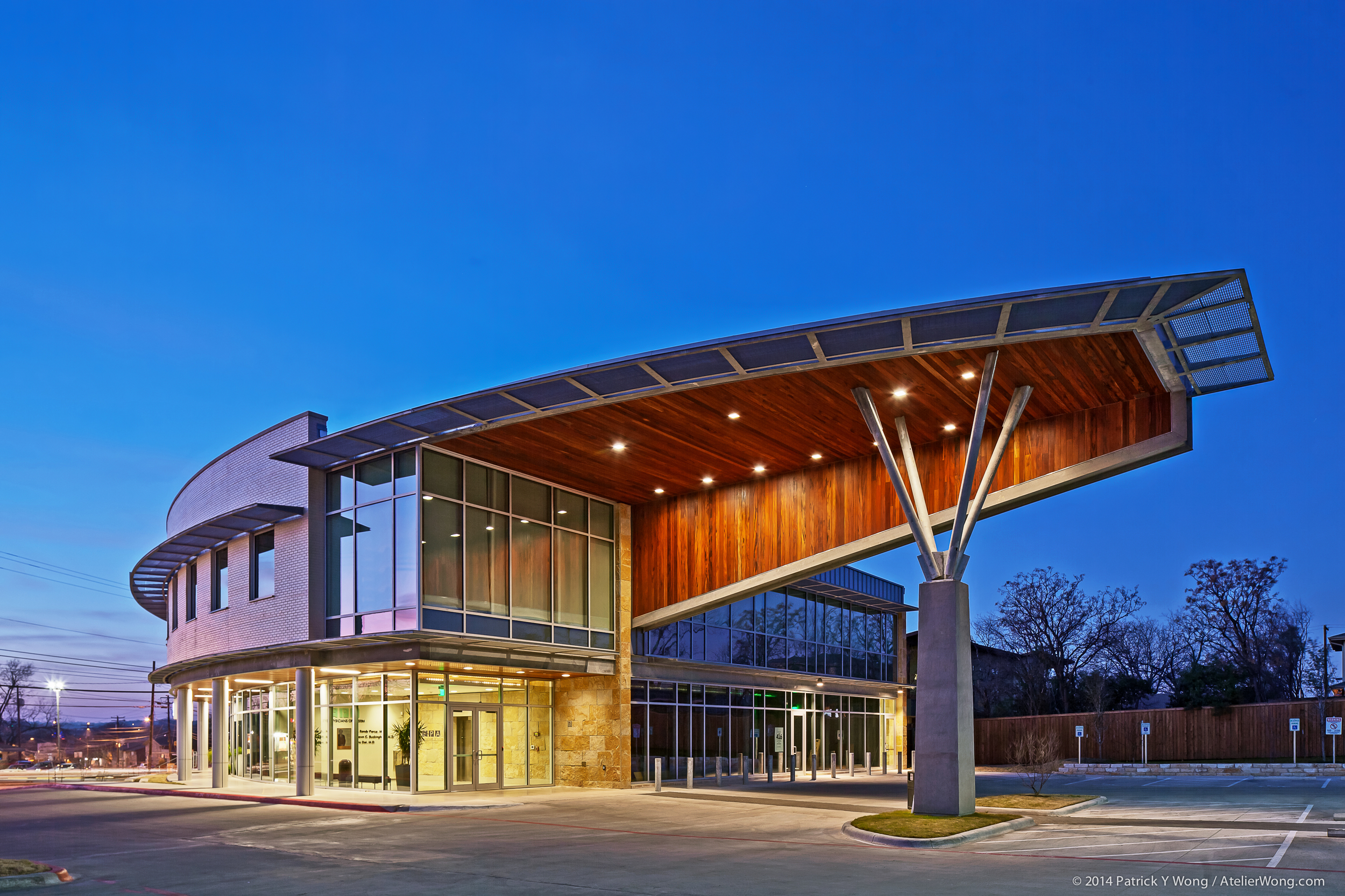 13_Eye Physicians of Austin Exterior_Dusk_Sixthriver Architects.jpg