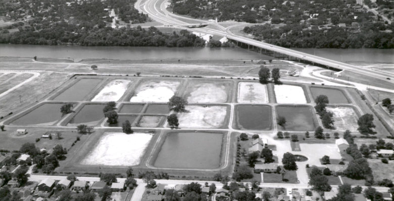 The Hatchery Park section of the development will incorporate the few remaining elements of the old hatchery's pumping infrastructure, including the round pond visible both in the image above and the map below, which    still exists    near the corner of Haskell and Waller Streets at the northwestern corner of the RBJ tract: