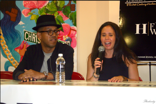 Sari Rosenberg speaking to Emerging Designers at the Harlem Fashion Week Business Symposium
