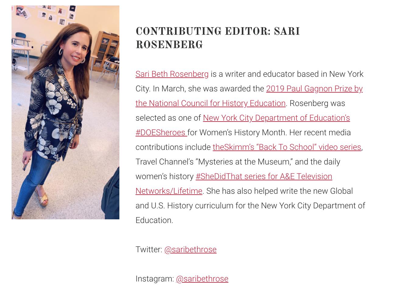 Sari Rosenberg Patriot Not Partisan