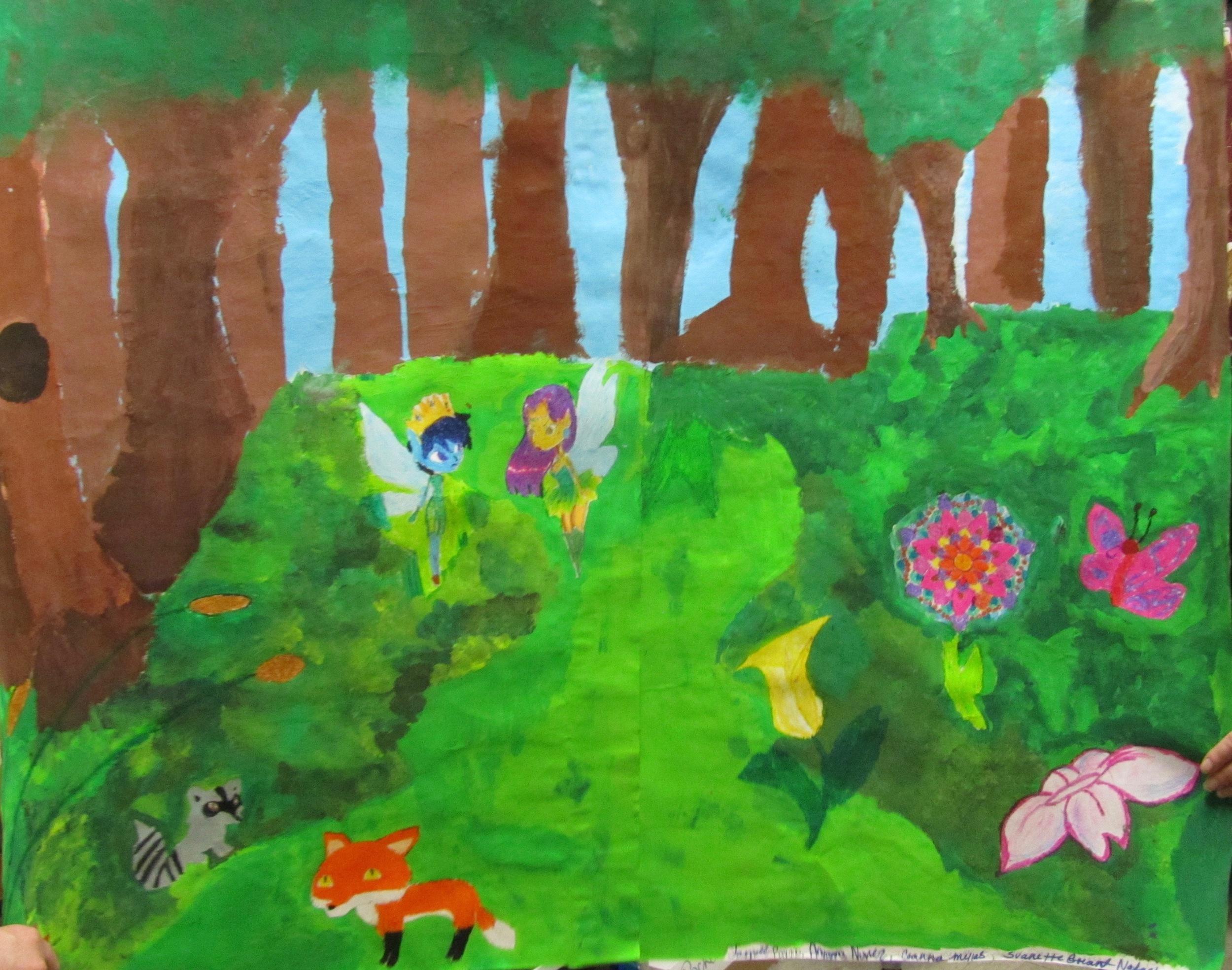"A Midsummer Night's Dream , ""Green World"" by Ariyanna Nunez, Jarriell Payano, Nicole Jerez, Natasha Lyons, and Ceanna Mejias"