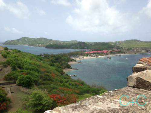 View from the lookout point at Pigeon Island National Park, St. Lucia