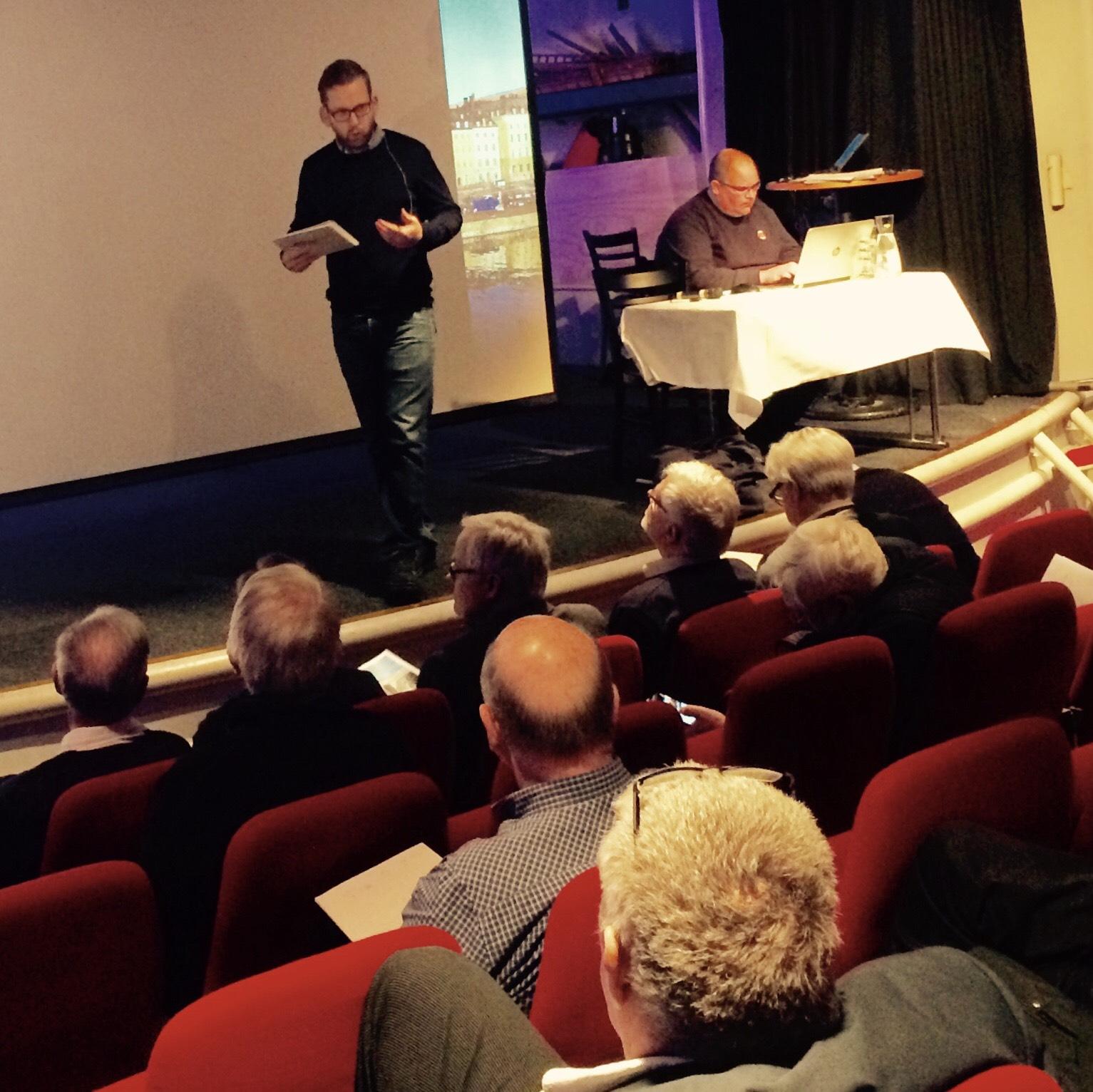 Talet hölls på Teaterskeppet idag.