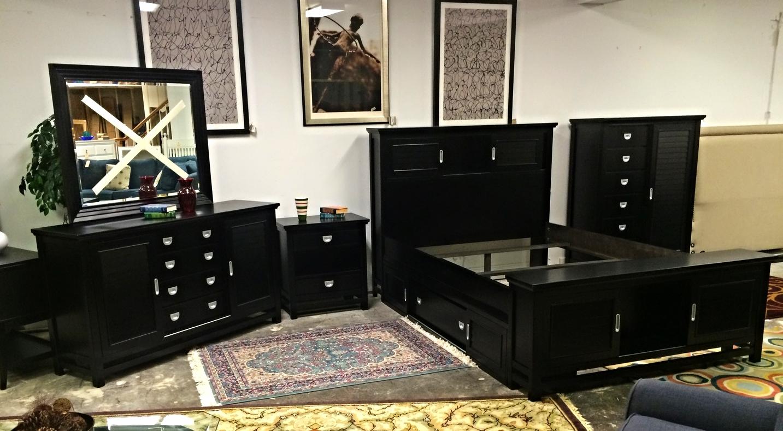 MZM Furniture 9pc Black Bedroom Suite w/Storage Bed — Furnish This - Fine  Home Furnishings | 3109 Hillsborough Road, Durham NC