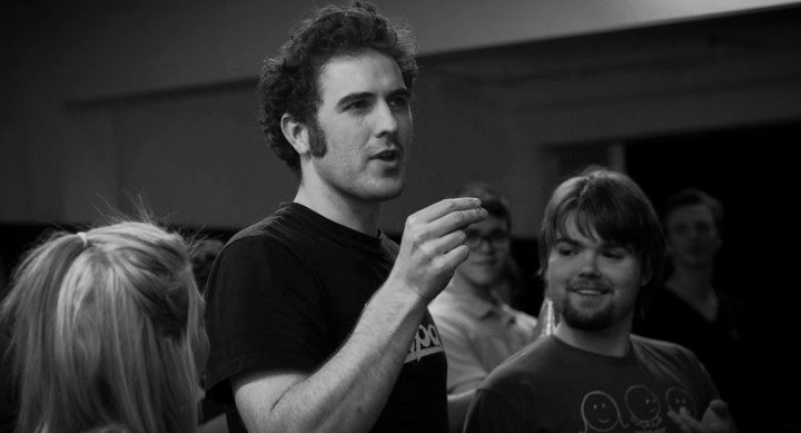 Neil teaching at the Toronto Youth Theatre.