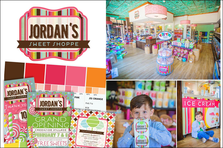 Jordan's Sweet Shoppe Branding