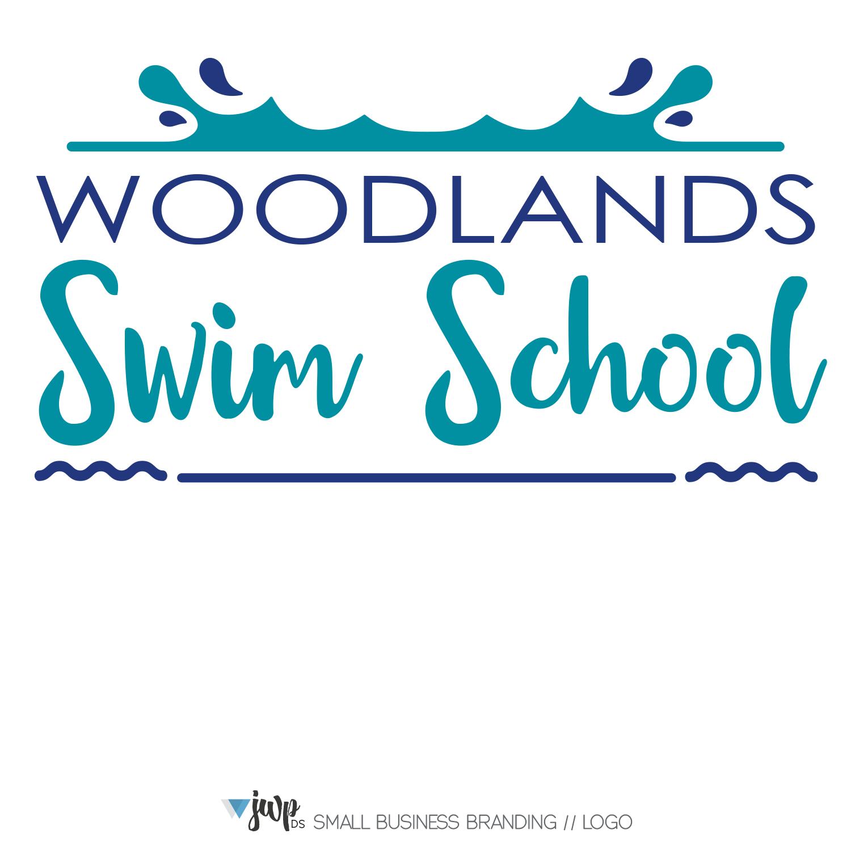 The Woodlands Graphic Design Logo Woodlands Swim School