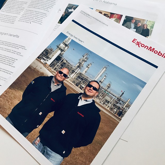CORPORATE NEWSLETTER DESIGN || 8-page newsletter designed for Exxon Mobil for the Mobile Bay area. ⠀⠀⠀⠀⠀⠀⠀⠀⠀ Designer: Jennifer West Pickard • Writer/Editor: @cmmaynard • Project Manager: Scott Rye ⠀⠀⠀⠀⠀⠀⠀⠀⠀ .……….……….……….……….……….………⠀⠀⠀⠀⠀⠀⠀⠀⠀ #graphicdesign #corporatenewsletter #annualreportdesign #thewoodlands #jwpdesignstudio #customdesign #newsletter