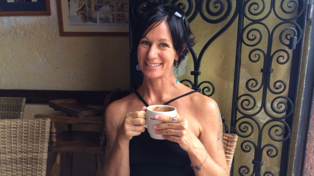 Being good to myself with a (guilt-free) hot chocolate and churro in San Miguel de Allende, Mexico!