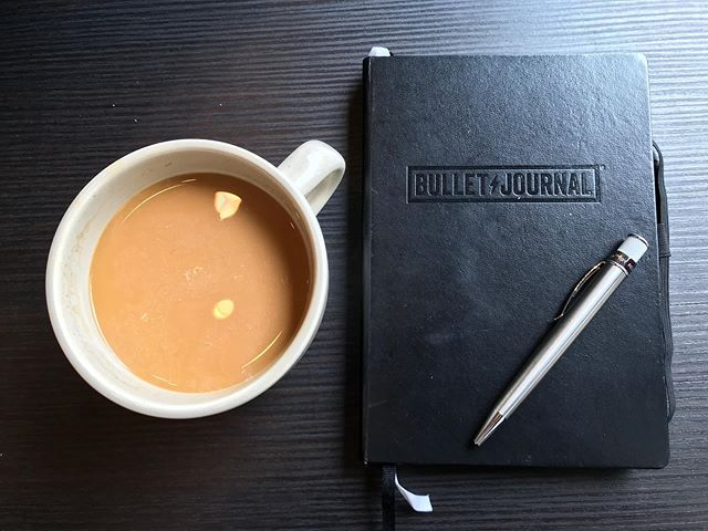 Alone time #coffeeshop #Bulletjournal