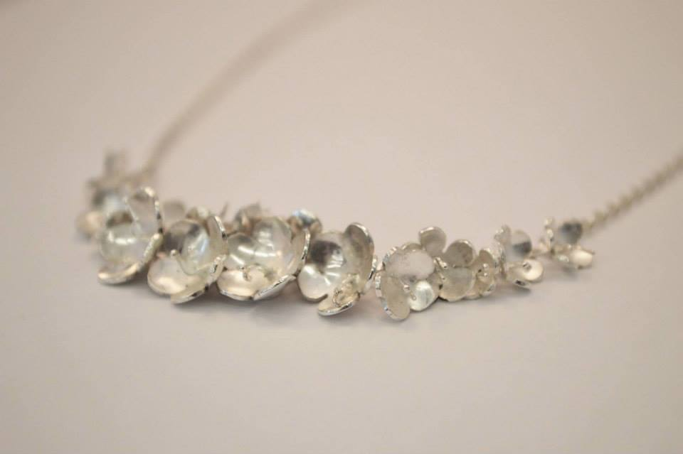 Elderflower wedding necklace
