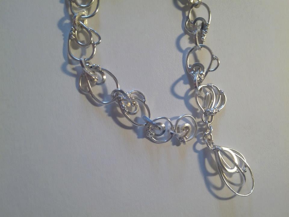 Art Deco inspired wedding bracelet