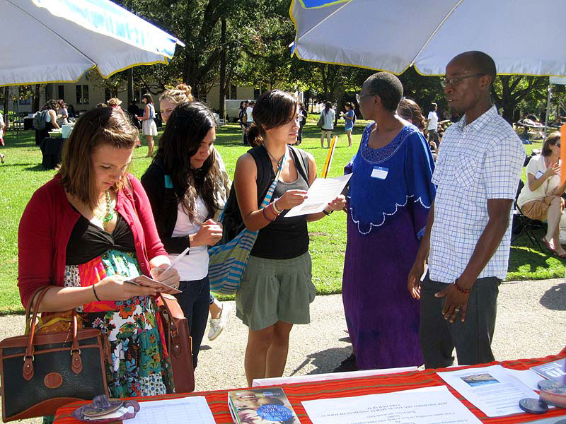 Dr. Nyamora (RIGHT) attending to Endurance visitors at Mills College Health Fair. Hehas written to thank everyone who visited Endurance at the Mills College Health Fair. He also invited everyone to visit the Endurance Website to learn more about the work of the center.