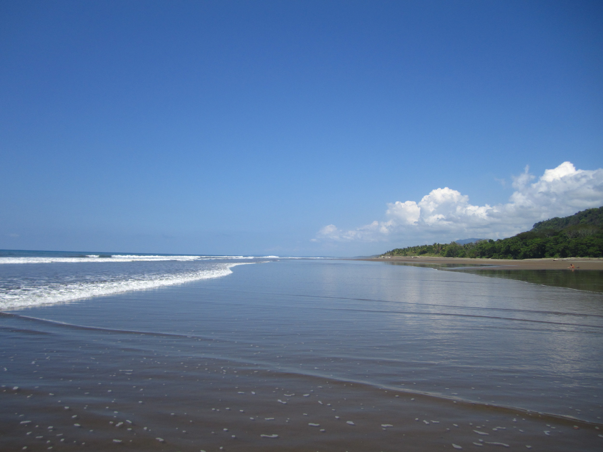 One of the many beautiful Costa Rican beaches.