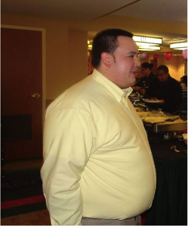This is me tipping the scale at nearly 300 pounds.