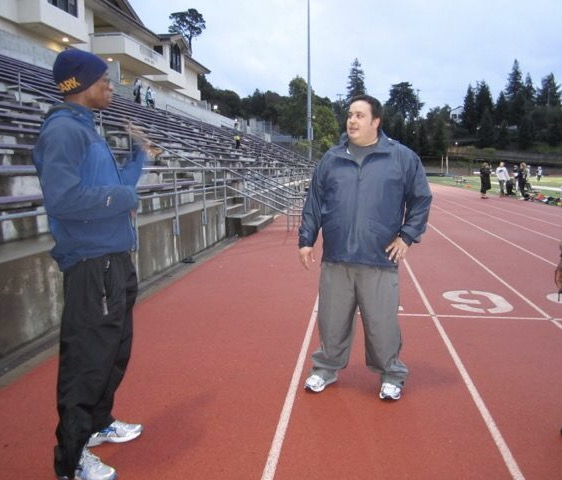 March 15, 2012 Workout at Piedmont High School: Dr. Cory Nyamora and Kenny.