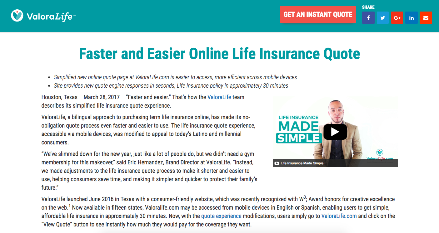 Faster and Easier Online Life Insurance … -