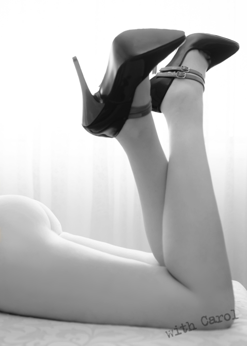 Beautiful studio wardrobe stilettoes really are all you need to wear sometimes.