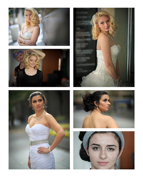 Before and after images of some of my hair and makeup work. We discuss styling of both at your complimentary styling session when you book with me.
