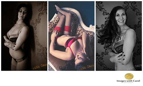 brunette boudoir black and white photography