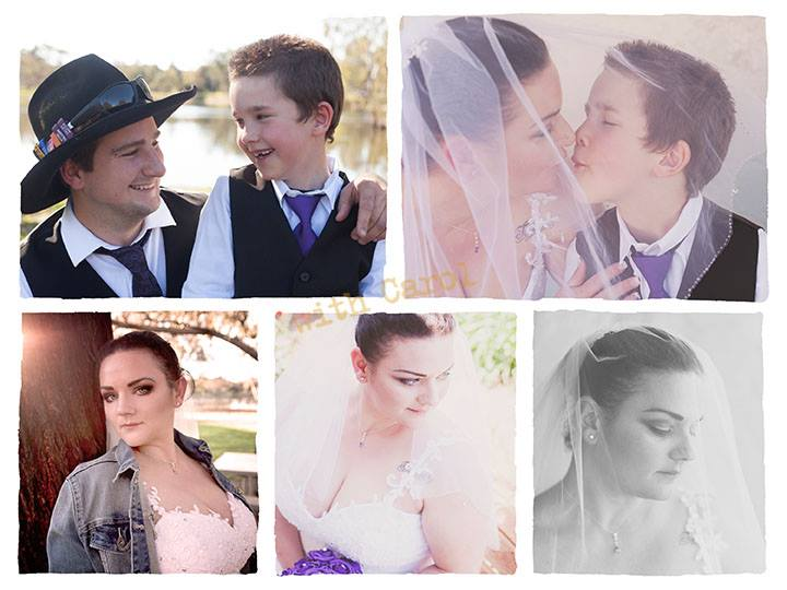 country wedding collage