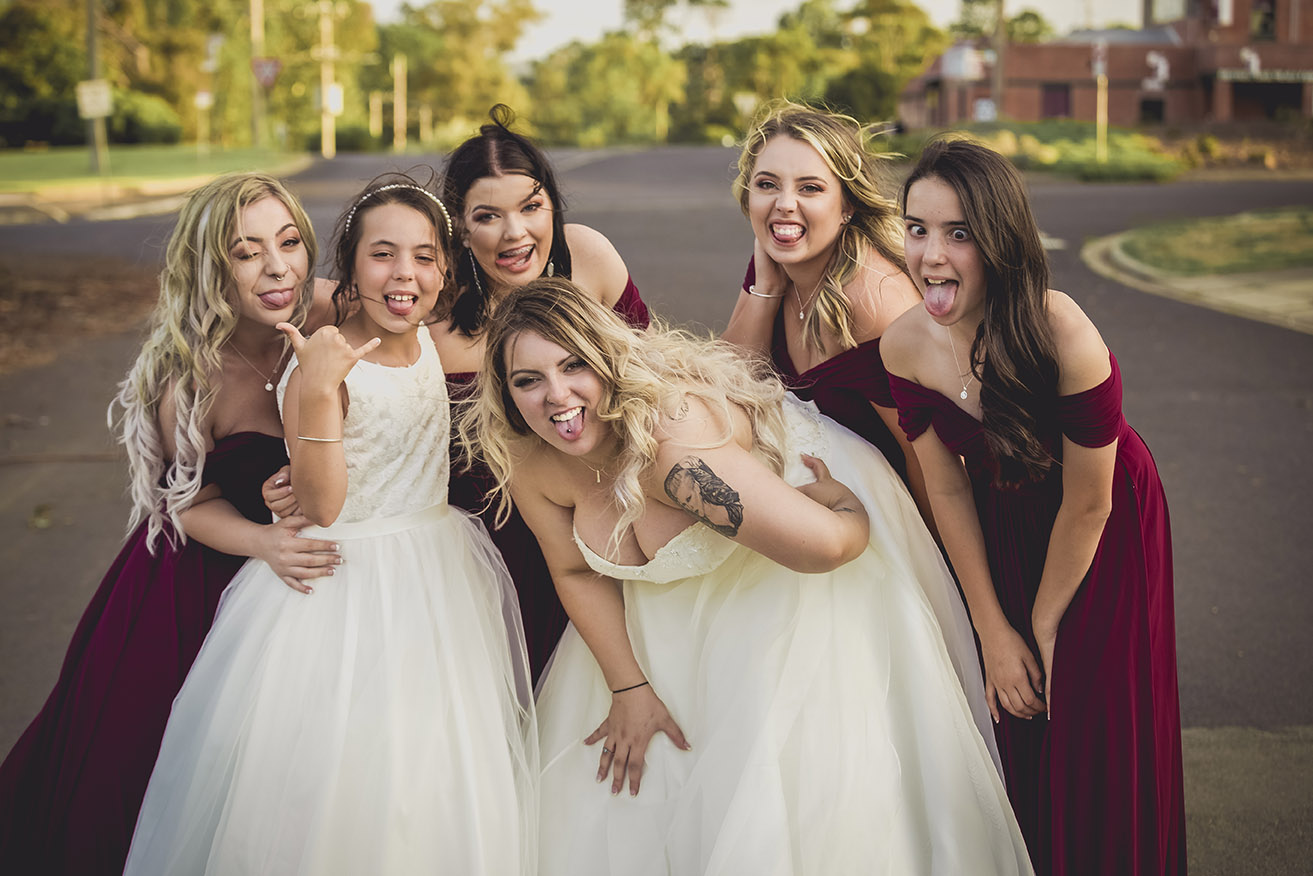 Pierced and tattooed brides and bridal parties are our absolute favourite weddings
