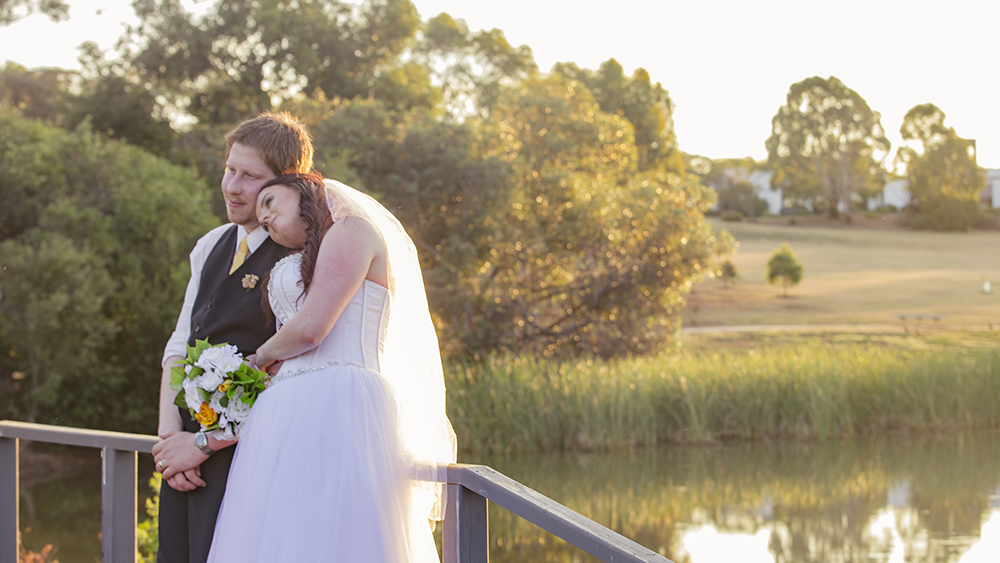 Everybody loves the soft romantic look of sunset photos, but don't forget to make the time for them in your schedule, you may have to re arrange some of your reception so that you don't miss the beautiful golden light.
