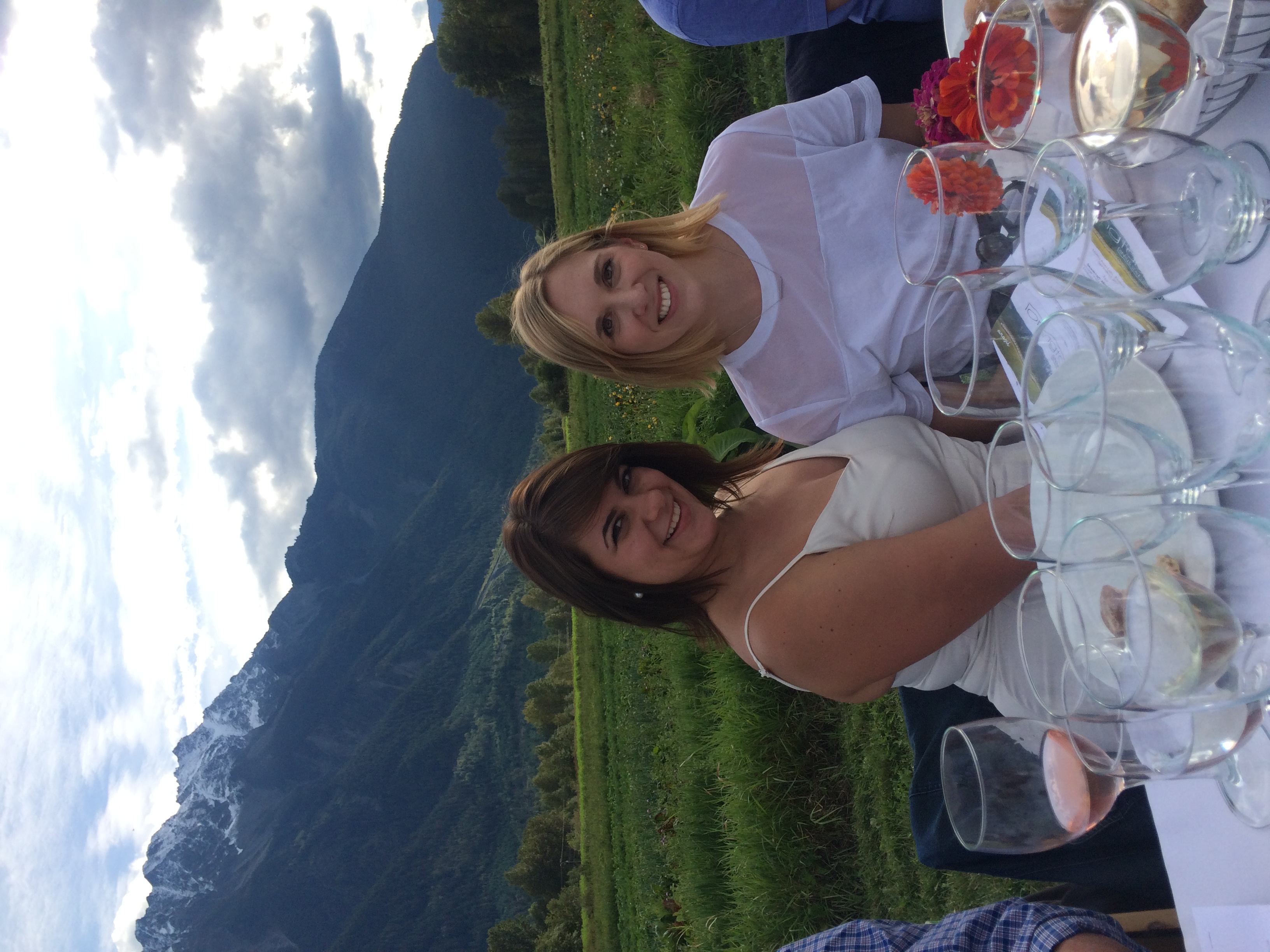 At the Araxi Long Table Dinner in Pemberton, B.C.