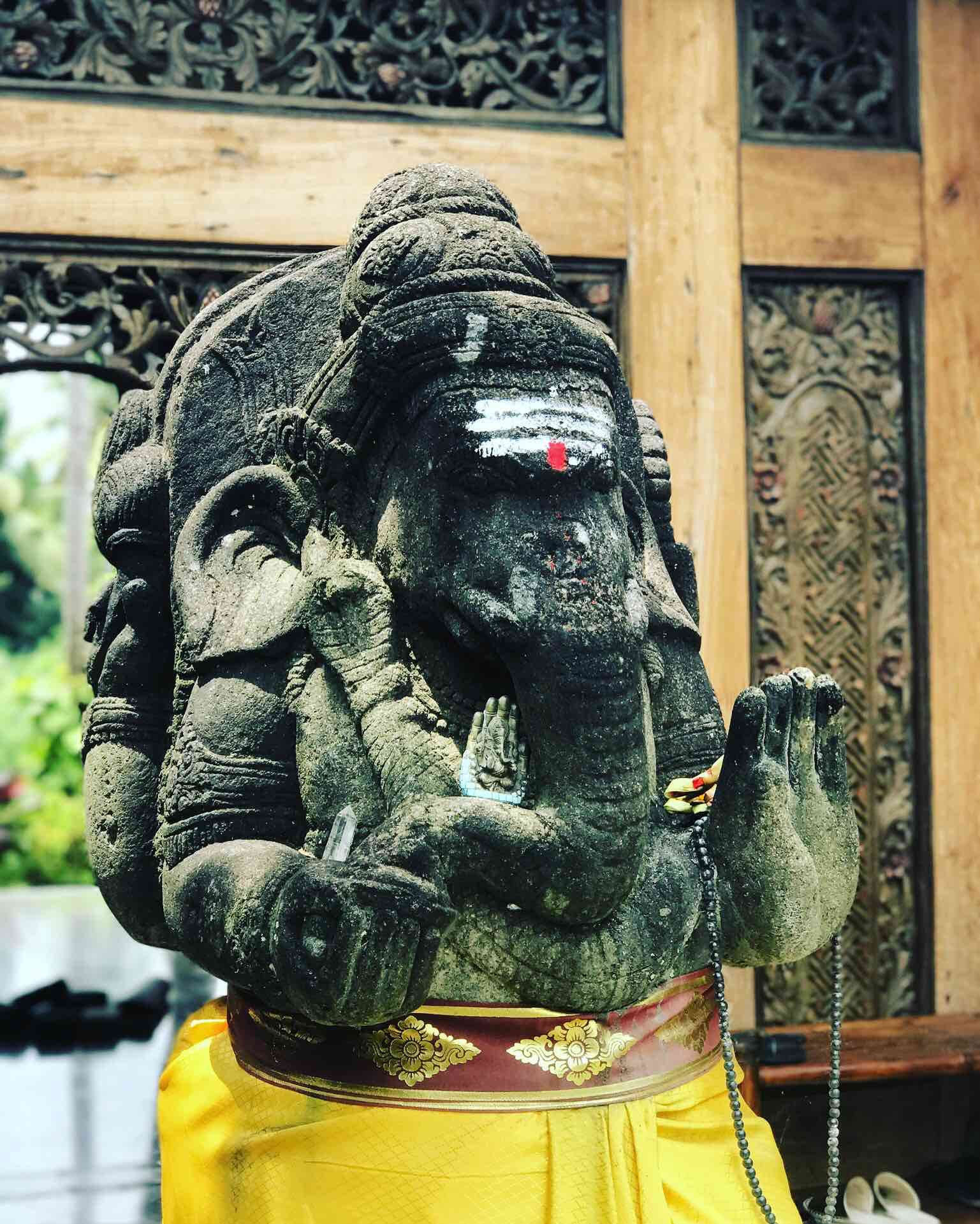 Ganesh, Protector of our Retreat Center ~ 300 Hour Tantra Yoga Teacher Training in Bali