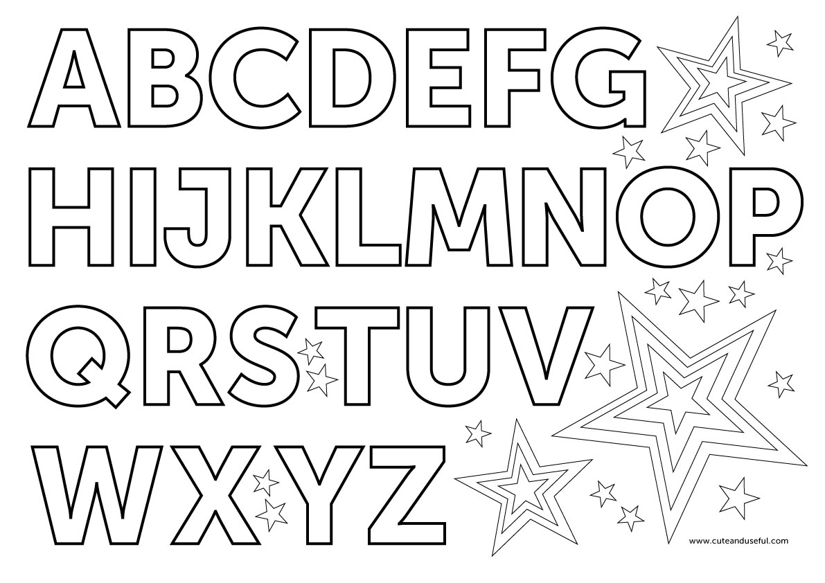 English Alphabet Coloring Pages Judy Havrilla