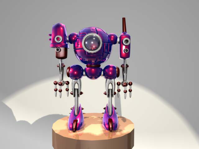 cyborg one 3D by Sally Chan