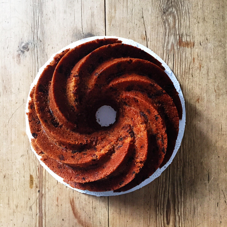 Rustic Fig, Pecan and Orange Bundt Cake