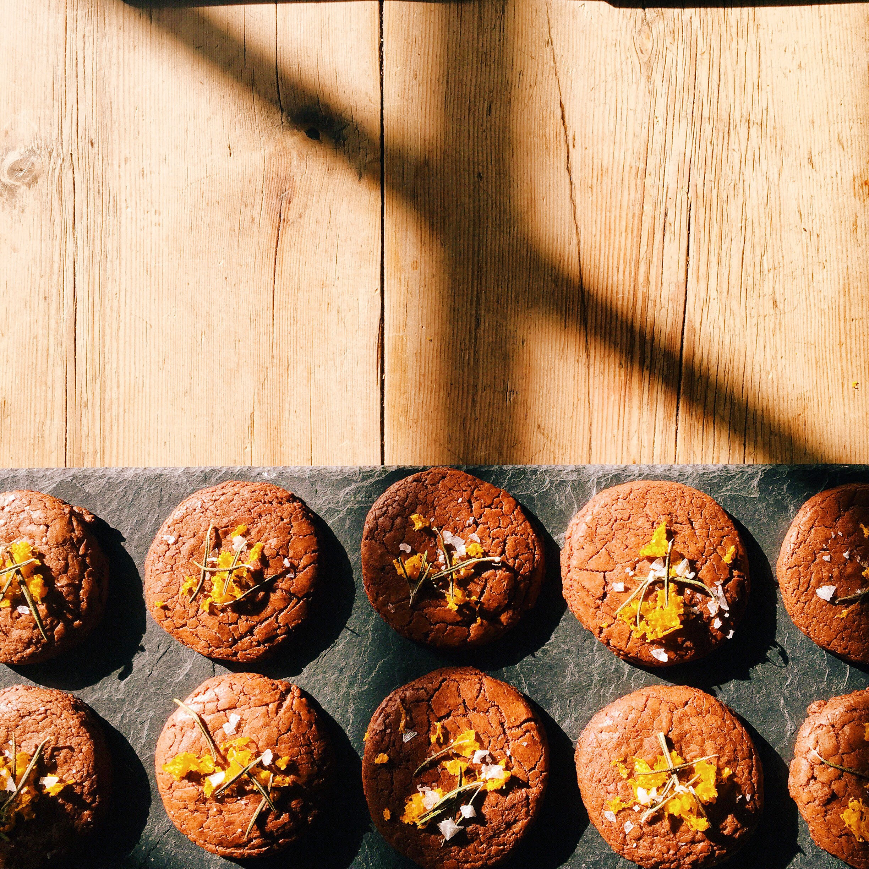 Rosemary and Orange Chocolate Cookies