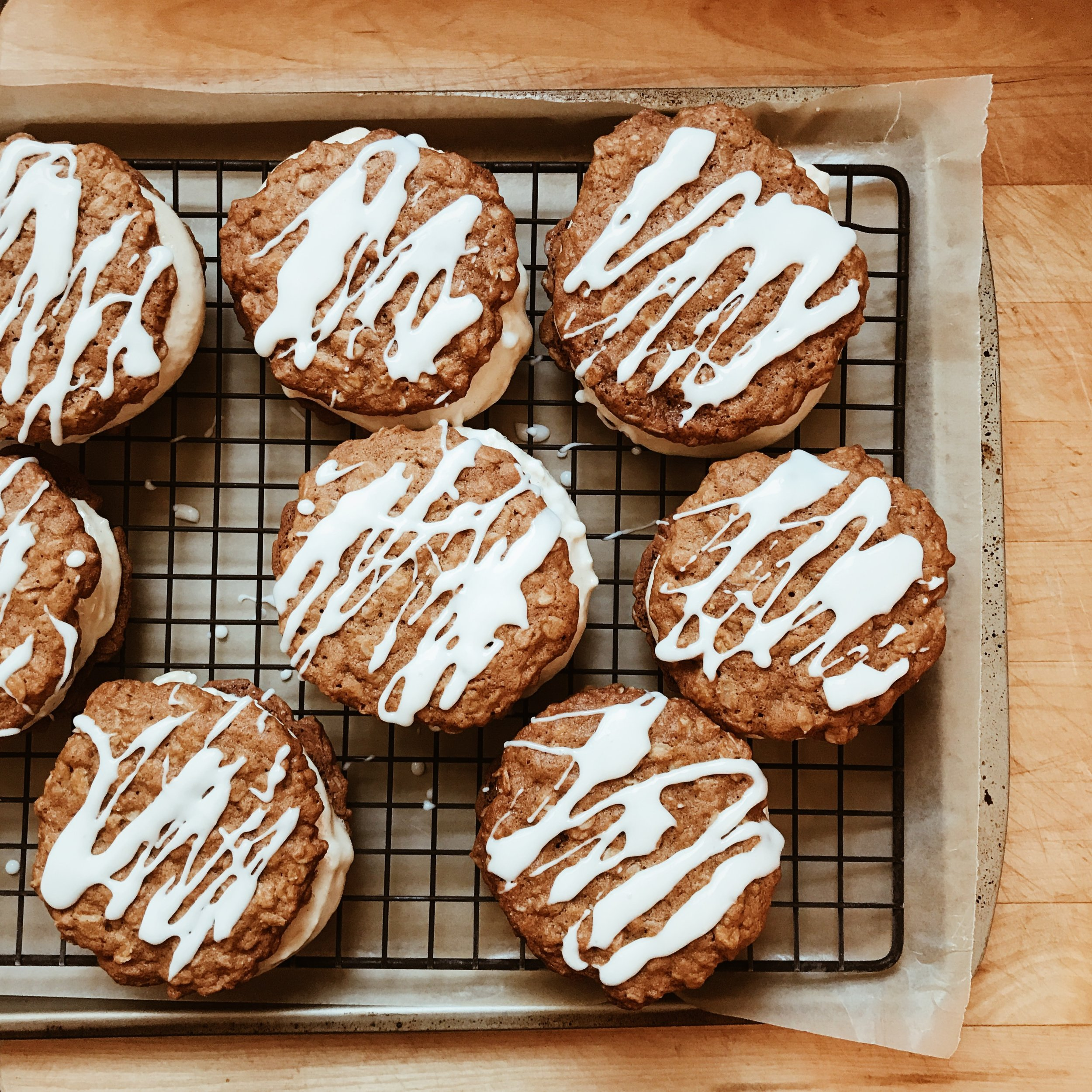 Maple Oatmeal Cookie Ice Cream Sandwich