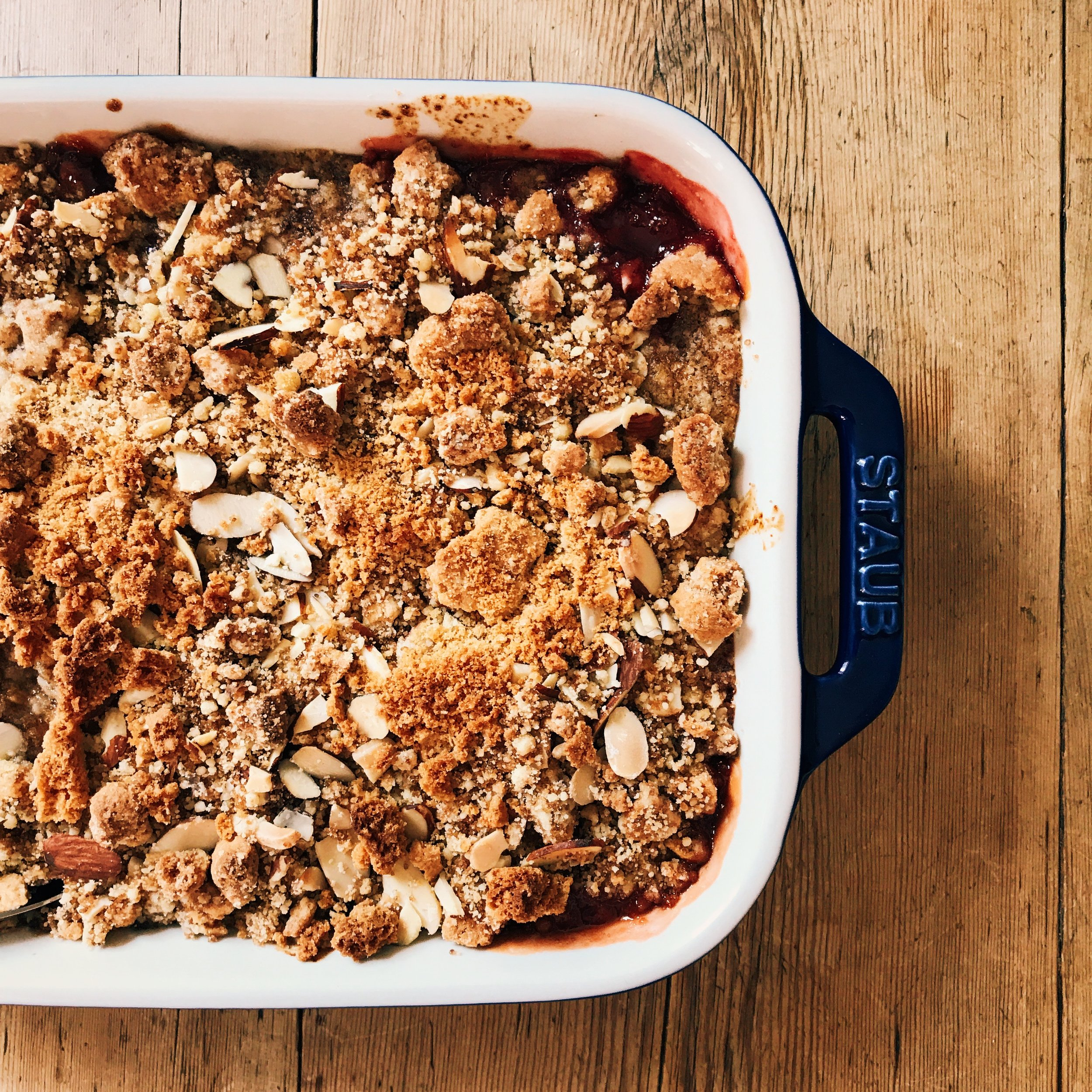 Red Plum and Gingersnap Crumble