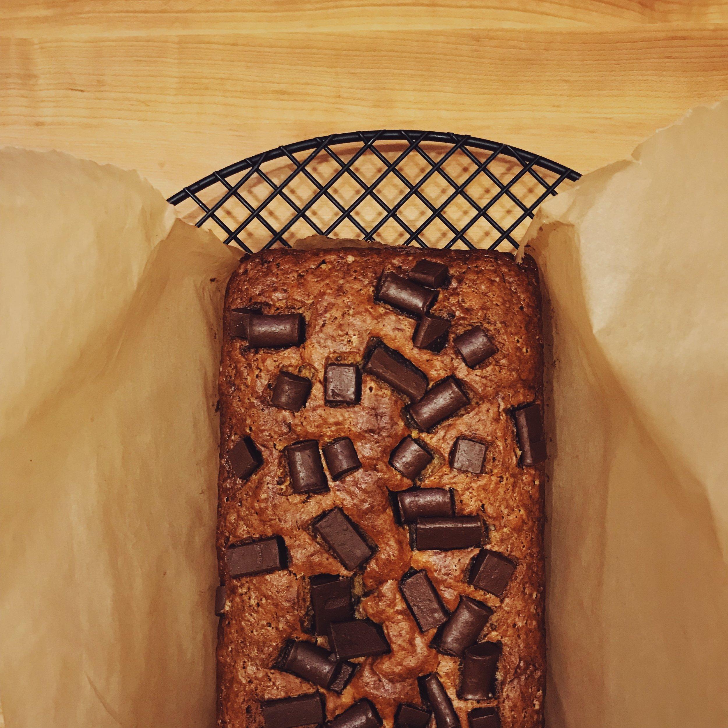 Vegan Banana Chocolate Bread