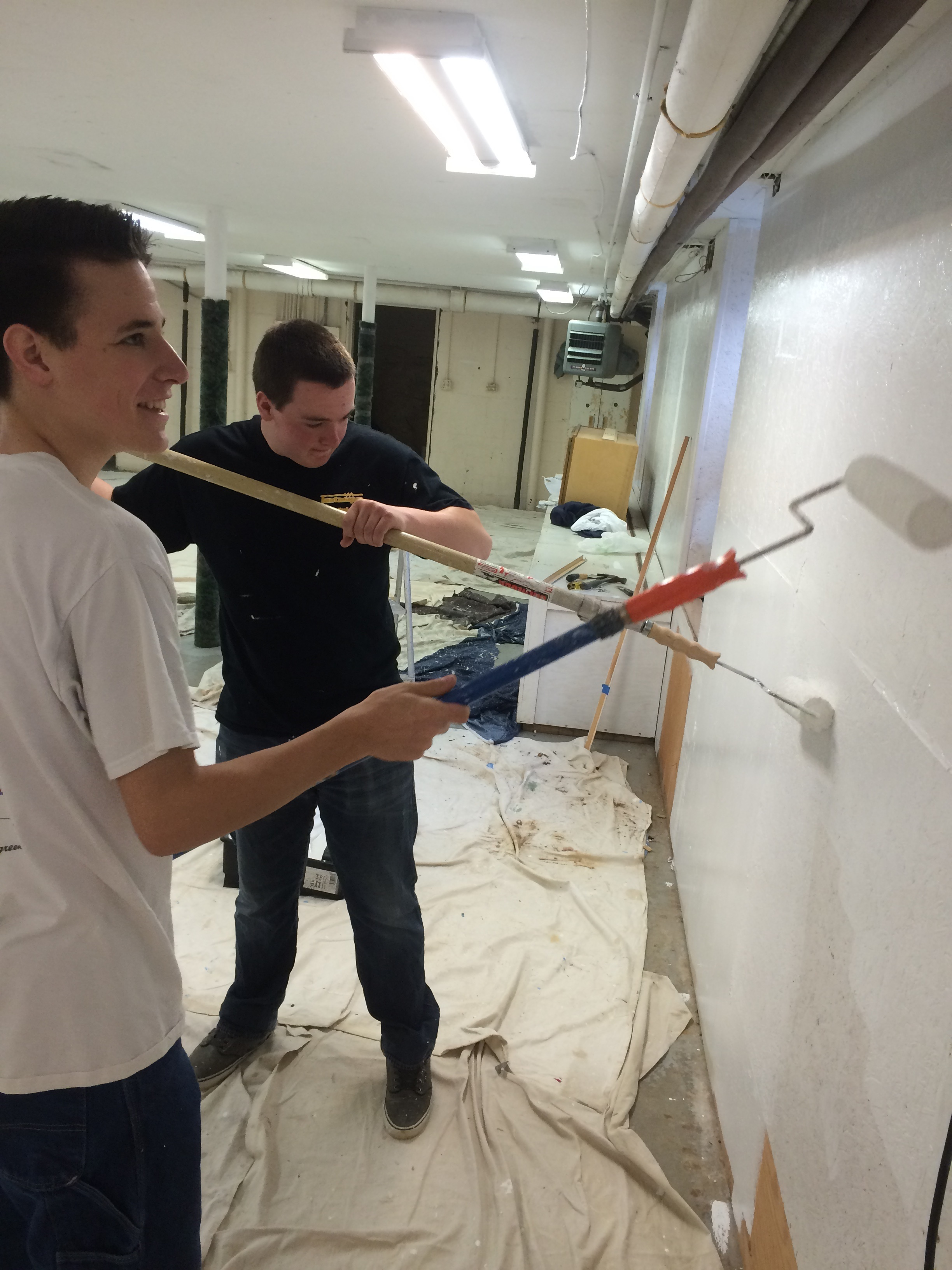 Hitting the wall: Jakob Shea and Tyler Hellyar tackle the walls with enthusiasm and care.