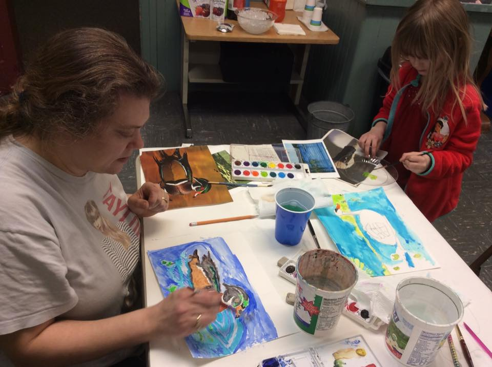 Christine & Amber Sullivan Wood Duck & Mute Swan paintings.jpg