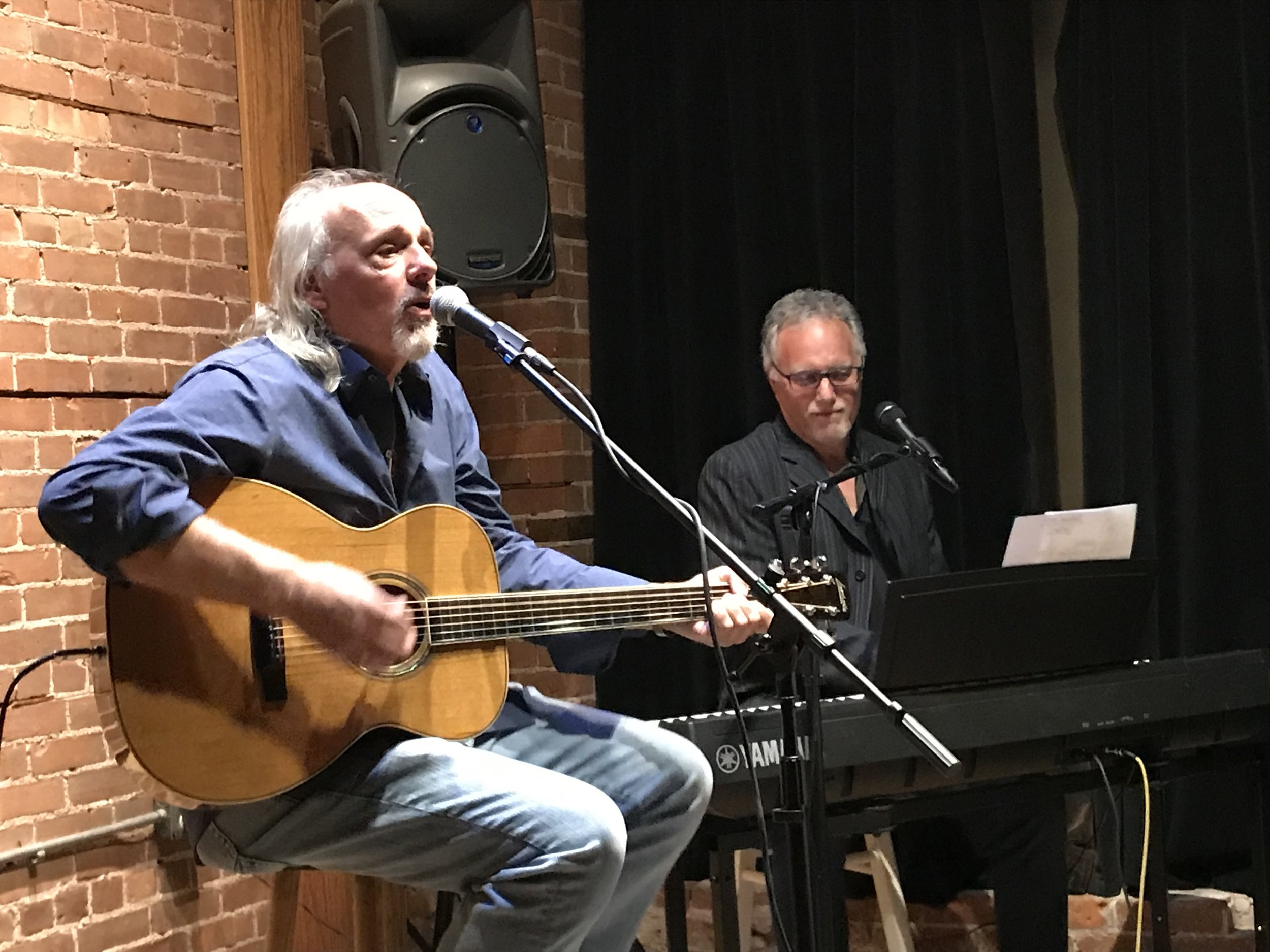 October Moon on July 30 - The duo features Jim Paradis performing some original songs including, Calm Before the Storm, a song adopted by Stop Abuse Today. Jim's partner, Mark Mirando. Mark has worked with top singers and songwriters including Ringo Starr and Kristin Chenoweth.