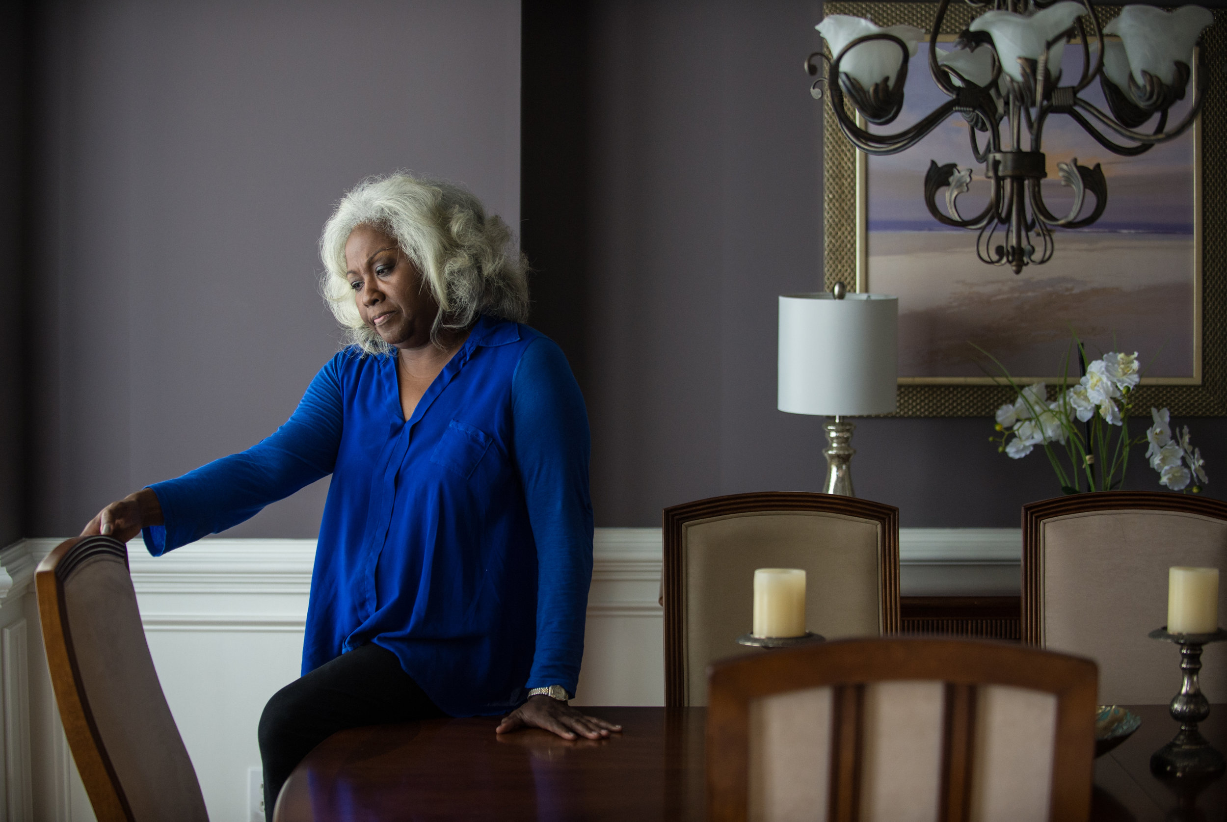 Deanna Baxam, mother of former US soldier Craig Baxam, speaks about her son at her Dacula, Ga., home on 15 August 2016. In 2014, Craig Baxam pleaded guilty to destroying records that might be used in a terrorism investigation and was sentenced to seven years in prison. He had been charged in early 2012 with attempting to provide material support to terrorist organisation al-Shabaab, which is affiliated with al-Qaida. Photograph: Bita Honarvar© 2016 Bita Honarvar
