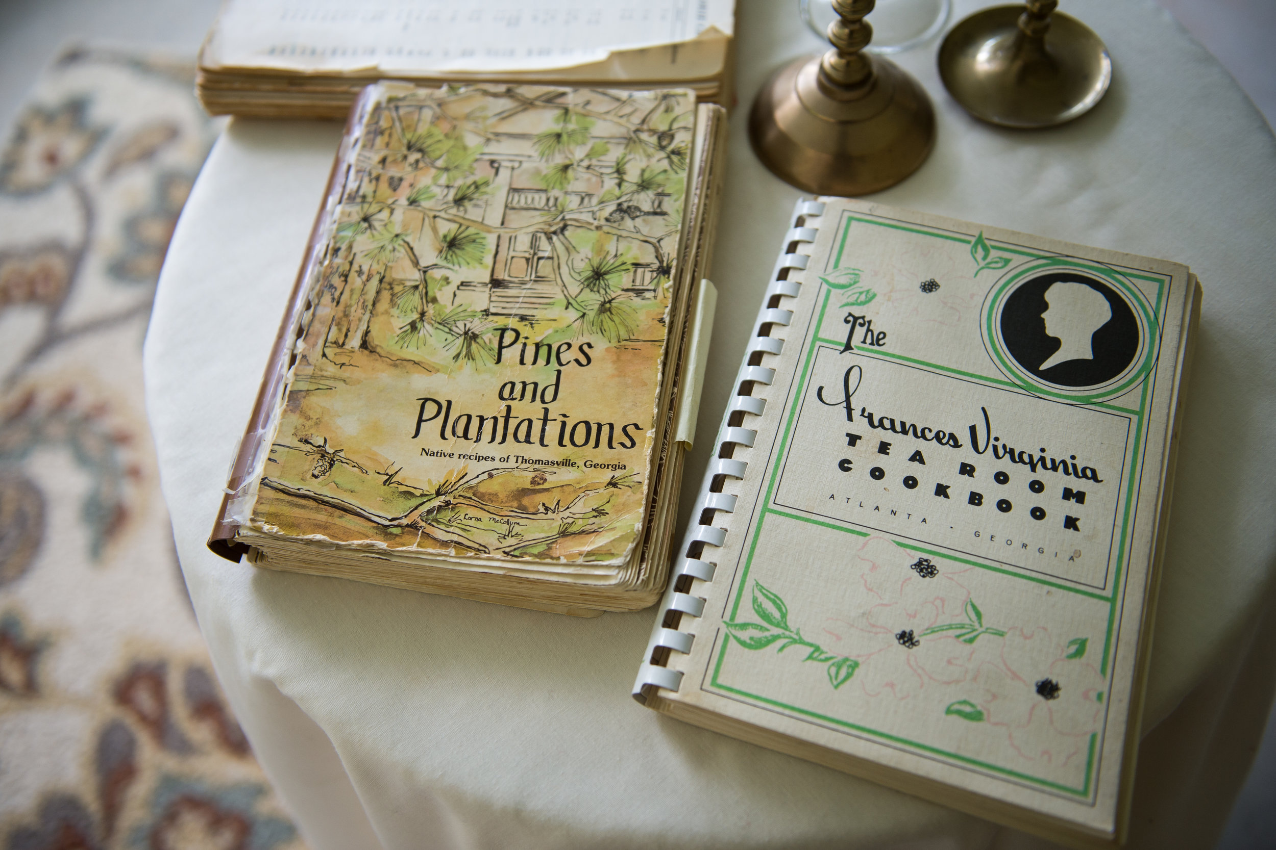 Cookbooks that belonged to Lucille Burton, great aunt to Rosalind Bentley and mother to Bentley's second cousin Brenda Webb.