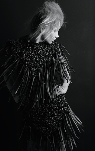 """TildArt  //London based fashion designer, Matilda Janosi, combines recycled materials with luxurious fabrics to create a unique """"Eco Luxury"""" style."""