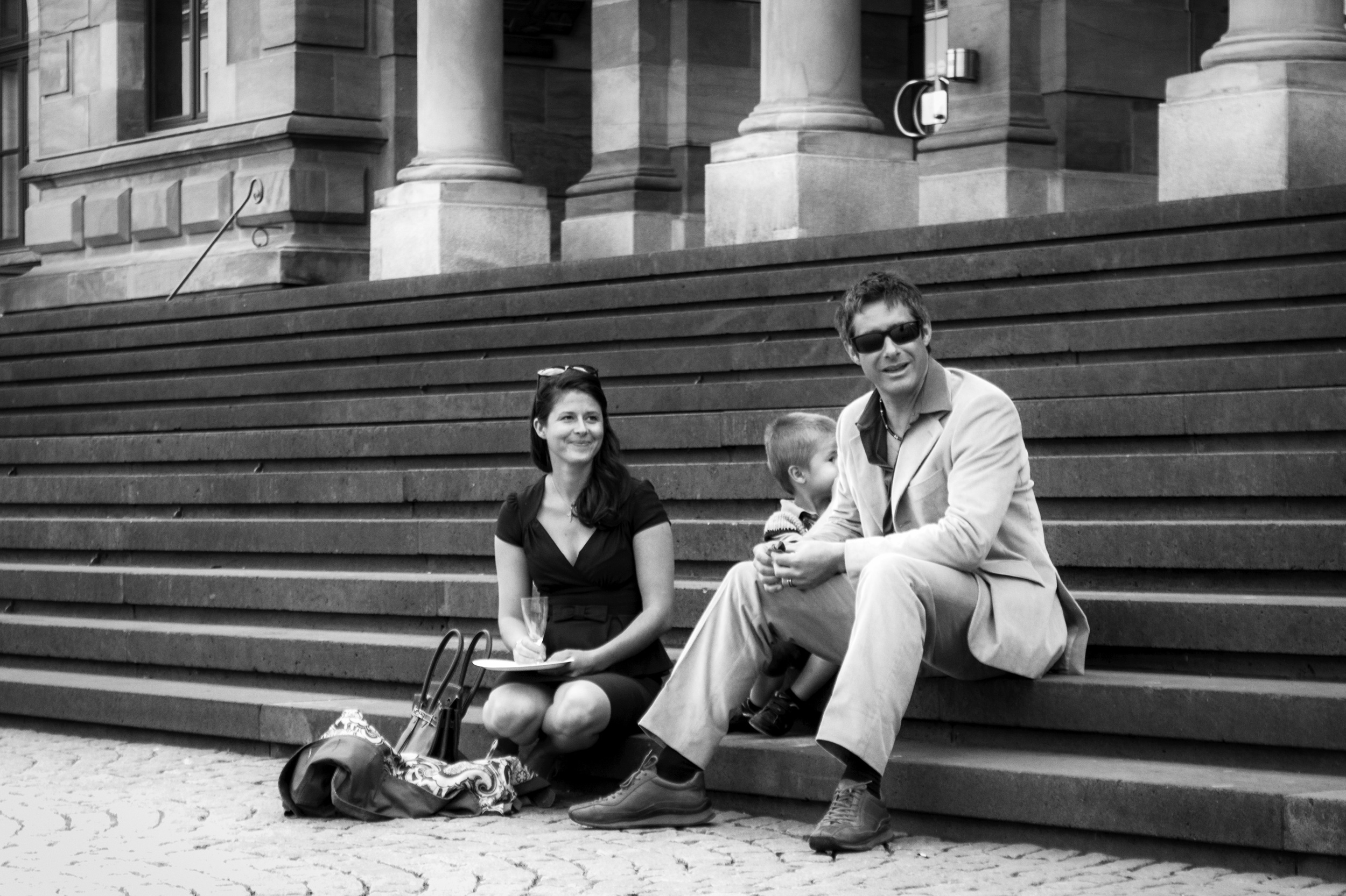 My wife's cousin and his family taking a break during the wedding.