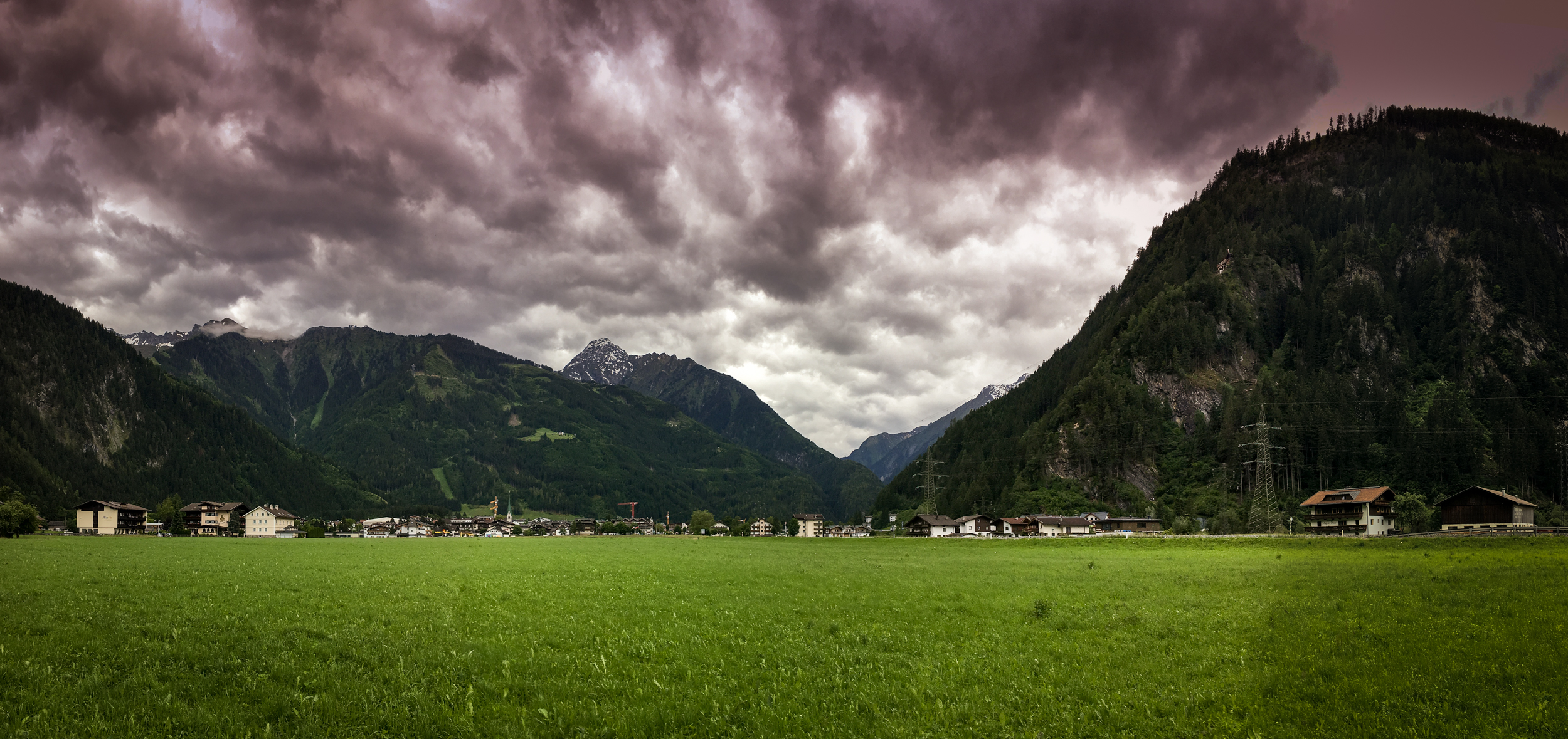 Impending skies over Mayrhofen, Tirol