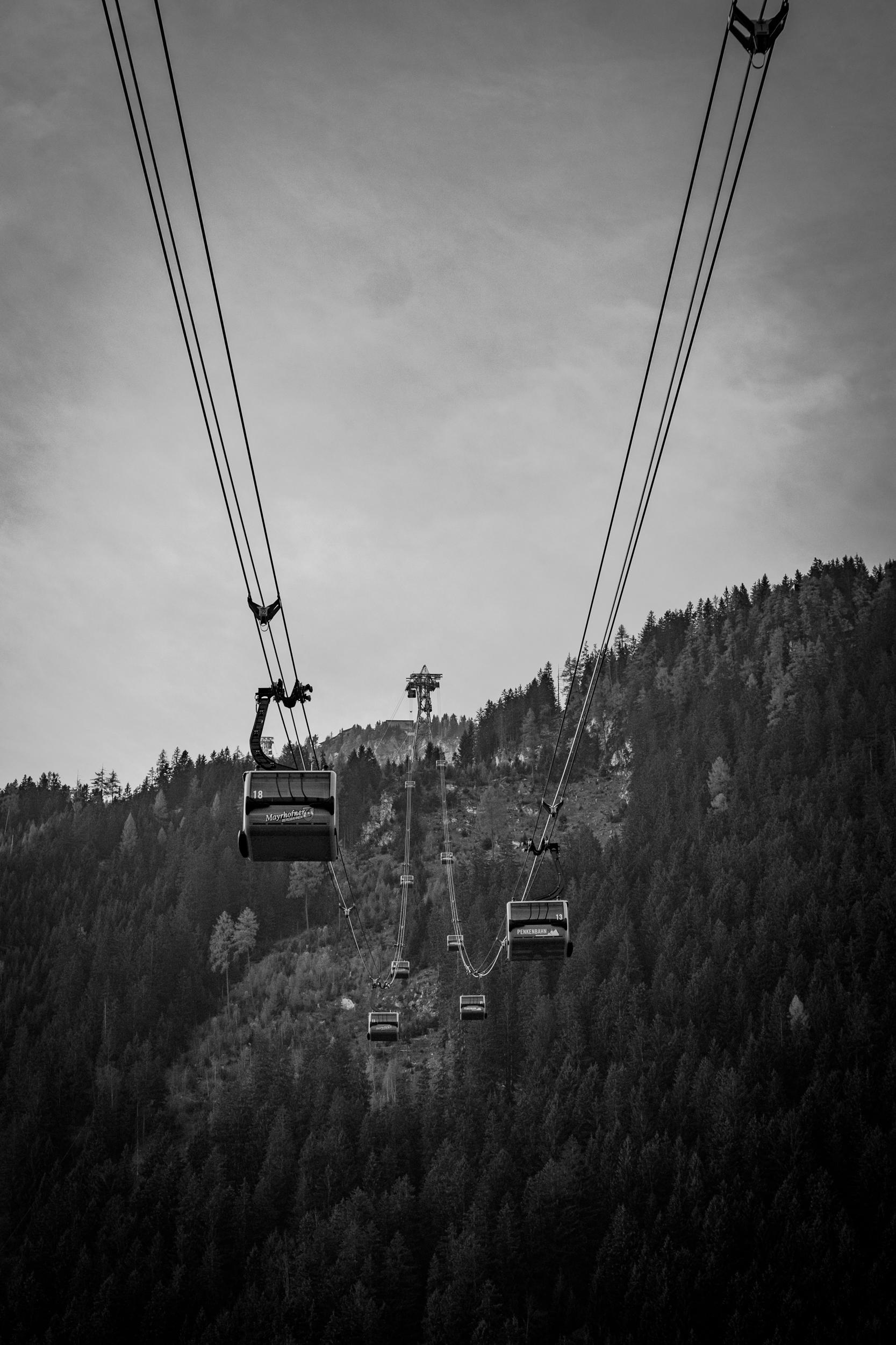 The Penkenbahn lift in Mayrhofen Fujifilm X-E1 with Olympus 50mm f1.8 shot at 1/500 sec f5.6ISO 200